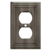 W22979-904 Lexington Brushed Nickel Single Duplex Cover Plate