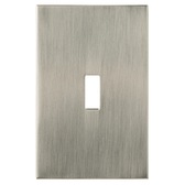 W27273-SN Linden Satin Nickel Single Switch Cover Plate
