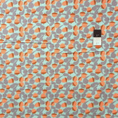 David Walker CDDW003 Get It Together Squirrels & Nuts Sea Corduroy Fabric By The Yard