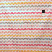 Dena Designs PWDF145 Happi Chevron Stripe Pink Cotton Fabric By Yard