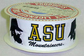 "Appalachian State Grograin Ribbon 1 1/2"" Wide By The Yard"