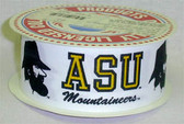 "Appalachian State Grograin Ribbon 7/8"" Wide By The Yard"