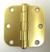 """B1550  3"""" Hinge  5/8"""" Radius Satin Brass Door Hinge"""