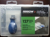 Arrow 160460 All In One Screw Driver Kit,  Anchors & Screws 127 Pack