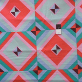 Amy Butler LIAB004 Hapi Sky Pyramid Melon LINEN Fabric 1 3/4 Yard