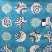 Valori Wells PWVW042 Karavan Bangle Peacock Cotton Fabric 1 5/8 Yard