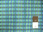 Carla Miller CM14 Laguna Basket Stripe Teal Cotton Fabric 1 Yard
