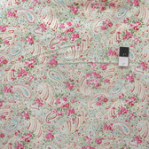 Tanya Whelan TW33 Delilah Paisley Green Cotton Fabric By The Yard
