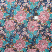 Melissa White PWMW019 Amelie's Attic Edgars Bouquet Peacock Fabric By Yard