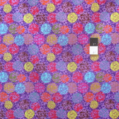 Nel Whatmore PWNW023 Katherine's Wheel Bubbles Purple Cotton Fabric By Yard
