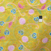 Dena Designs PWDF172 Little Azalea Bird Of Paradise Yellow Fabric By The Yard