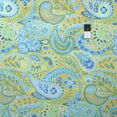 Dena Designs PWDF175 Little Azalea Camelia Aqua Fabric By The Yard