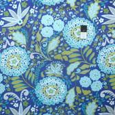 Dena Designs PWDF178 Little Azalea Lantana Aqua Fabric By The Yard