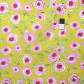 Dena Designs PWDF184 Tiddlywinks Love Yellow Fabric By The Yard