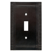 W32741-SI Mission Soft Iron Single Switch Cover Plate