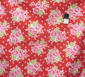 Tanya Whelan PWTW076 Valentine Rose Falling Roses & Hearts Red Fabric By The Yard