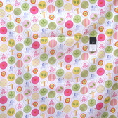 Dena Designs PWDF150 Happi Animal Circles Pink Cotton Fabric By Yard