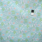 Dena Designs PWDF198 Chinoiserie Chic Jasmine Aqua Cotton Fabric By Yard