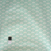 Heather Bailey PWHB052 Clementine Posie Aqua Fabric By The Yard