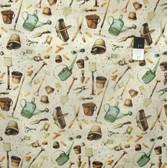 Marjolein Bastin PWMB013 Marjolein's Garden Garden Tools Sand Fabric By Yard