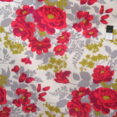 Joel Dewberry Flora Sateen Rose Bouquet Poppy Cotton HOME DECOR Fabric By Yard