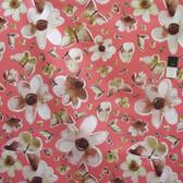 Kathy Davis Enchantment Sateen Companions Coral Cotton HOME DECOR Fabric By Yard