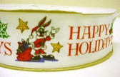 Bugs Bunny Happy Holidays Ribbon * 50 yds