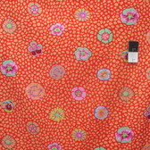 Kaffe Fassett GP59 Guinea Flower Apricot Cotton Fabric By The Yard