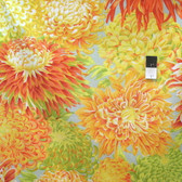 Philip Jacobs PJ41 Japanese Chrysanthemum Yellow Cotton Fabric By The Yard