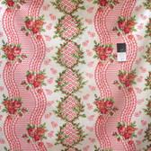 Verna Mosquera PWVM133 Indigo Rose Blossom Time Vanilla Cotton Fabric By Yd