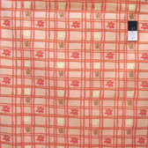 Nel Whatmore PWNW032 Eden Picnic Check Peach Cotton Fabric By Yard