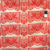 Anna Maria Horner PWAH071 Pretty Potent Banner Days Tomato Cotton Fabric By Yd