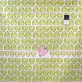 Tina Givens PWTG176 Feather Flock Heart Candy Apple Cotton Fabric By Yd