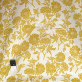 Valori Wells RAVW003 Novella Peony Gold Rayon Fabric By The Yard