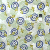 Ty Pennington PWTY047 Fish Aubergine Cotton Fabric By The Yard