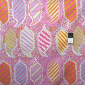 Kaffe Fassett PWGP153 Striped Heraldic Pink Cotton Fabric By The Yard
