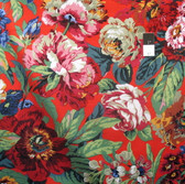Philip Jacobs PWPJ083 Voluptous Red Cotton Quilting Fabric By Yard
