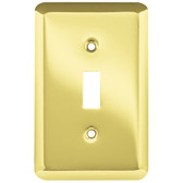 223067 Brass Stamped Single Switch Cover Plate