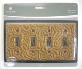 64911 Ceramic Insert Ochre Quad Switch Cover Plate