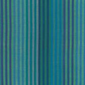 Kaffe Fassett Caterpillar Stripe Blue Woven Cotton Fabric By The Yard