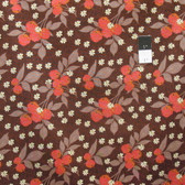 Nel Whatmore PWNW031 Eden Cherry Dark Brown Fabric By Yard