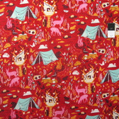Tula Pink PWTP054 Moonshine Forest Frivolity Strawberry Cotton Fabric By The Yard