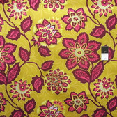 Joel Dewberry Home Decor Heirloom Ornate Floral Gold Fabric By The Yard