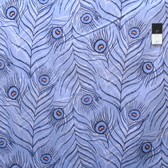 Zandra Rhodes Flower Garden Voile VOZR004 Feathers Denim Fabric By The Yard