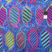 Kaffe Fassett PWGP153 Striped Heraldic Blue Cotton Fabric By The Yard