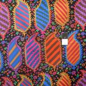 Kaffe Fassett PWGP153 Striped Heraldic Black Cotton Fabric By The Yard