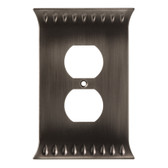 Brainerd W30332-904 Wadsworth Single Duplex Cover Wall Plate Heirloom Silver