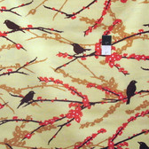 Joel Dewberry JD41 Aviary 2 Sparrows Bark Cotton Fabric By Yard