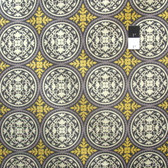 Joel Dewberry JD44 Aviary 2 Scrollwork Granite Cotton Fabric By Yard