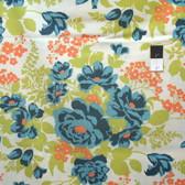 Joel Dewberry PWJD047 Flora Rose Bouquet Carrot Cotton Fabric By Yard